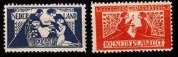 1923 Tooropzegels NVPH 134-135 MLH* Hinged. Keurige Zegels Met Klein Net Plakkertje Op Originele Gom. - Ongebruikt