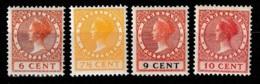 1924 Wilhelmina 6 Ct, 7,5 Ct, 9 Ct And 10 Ct MH/*  NVPH 150-153 - No Watermark - Ongebruikt