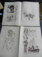 8g) ARTE MINUSCOLA LEZIONE DI DISEGNO 20 NOVEMBRE 1898  DUE FOGLI CON VARIE IMMAGINI - Libri, Riviste, Fumetti