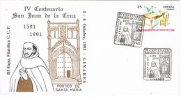32193. Carta LINARES (Jaen) 1991. Centenario San Juan De La Cruz - 1931-Hoy: 2ª República - ... Juan Carlos I
