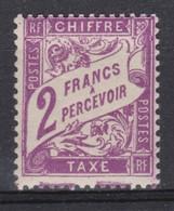 FRANCE  TAXE  1893-1935:   Le Y&T  42, Neuf **, Variété - Portomarken