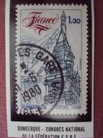"""80-89-  Timbre Oblitéré  N°  2088   """"   Dunkerque, Congrès National Espe   """"  0.25 - Frankreich"""