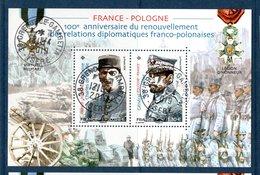 France 2019.Bloc France-pologne.Cachet Rond.Gomme D'origine. - Blocs Souvenir