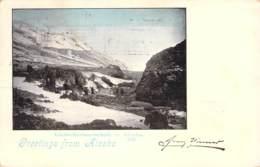 Greetings From Alaska - Gletscherlandschaft In Alaska 1899 AKS - Gruss Aus.../ Grüsse Aus...