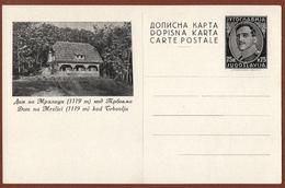 YUGOSLAVIA-SLOVENIA, DOM Na MRZLICI Near TRBOVLJE, 2nd EDITION ILLUSTRATED POSTAL CARD RRR!!! - Ganzsachen