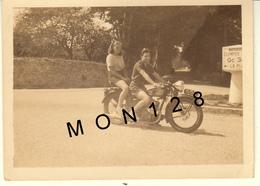 BENODET BRETAGNE AOUT 1939 - MOTO A IDENTIFIER - PHOTO 9x6,5 Cms - Cyclisme