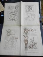 8g) ARTE MINUSCOLA LEZIONE DI DISEGNO 1898  N° 52 DUE FOGLI CON VARIE IMMAGINI - Libri, Riviste, Fumetti