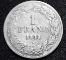 BELGIE LEOPOLD I 1 FRANC 1838  HEEL MOOIE  STAAT  4 SCANS - 1831-1865: Léopold I