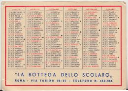 1958 CALENDARIETTO PLASTIFICATO - Calendari