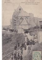 76. FECAMP. CPA .CHAPELLE DE NOTRE DAME DU SALUT UN JOUR DE PÈLERINAGE. ANNEE 1907 + TEXTE - Fécamp