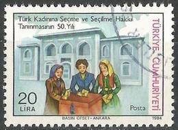 TURKEY 1984 - Mi. 2698 O, The Recognation To The Turkish Woman - 50th Anniversary - 1921-... Republic