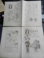 8g) ARTE MINUSCOLA LEZIONE DI DISEGNO 30 OTTOBRE 1898  N° 43 DUE FOGLI CON VARIE IMMAGINI - Libri, Riviste, Fumetti
