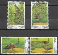 LAOS 2000- Green Peafowl MNH Set ( Pavo Muticus)- - Paons