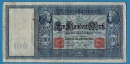 """DEUTSCHES REICH 100 MARK 07.02.1908 # C.1237364 P# 35 """"Flottenhunderter"""" - [ 2] 1871-1918 : German Empire"""