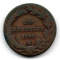Autriche  -  1 Kreutzer 1790 S-  -  Km # 2056   -  état  B + - Autriche