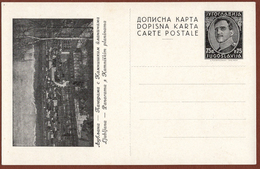 YUGOSLAVIA-SLOVENIA, LJUBLJANA, 2nd EDITION ILLUSTRATED POSTAL CARD RRR!!! - Ganzsachen