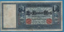 """DEUTSCHES REICH 100 MARK 10.09.1909 # C.2748722 P# 38 """"Flottenhunderter"""" - [ 2] 1871-1918 : German Empire"""