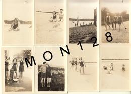 BENODET BRETAGNE 1939 -SCENES DE PLAGE- BAINS - PAYSAGE-  13 PHOTOS  9x6,5 Cms - Lieux