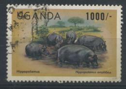 STAMPS - UGANDA - 1993 1000s HIPPOPOTAMUS FU - Uganda