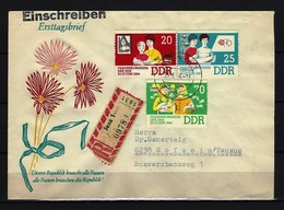 DDR - RECO-Beleg Mi-Nr. 1030 - 1032 Mit Ersttags-Tagesstempel JENA - DDR