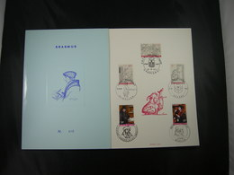 "BELG.1967 1427-1431 FDC Echophil Card N°605   : ""  Erasme/Erasmus "" - Cartes Souvenir"