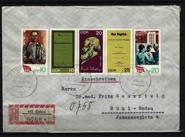DDR - RECO-Beleg Mi-Nr.1363 - 1367 Stempel JENA - [6] Democratic Republic
