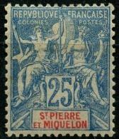 Saint Pierre Et Miquelon (1900) N 75 * (charniere) - St.Pierre Et Miquelon