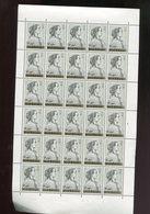 Belgie 1962 1235 Monarchie Queens Luppi Full Sheet MNH Plaatnummer 2 - Feuilles Complètes