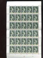 Belgie 1963 1263 Monarchie Queen Paola Red Cross Luppi Full Sheet MNH Plaatnummer 1 - Feuilles Complètes