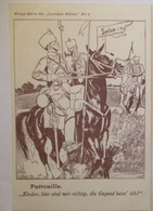 Kriegskarte Der Lustigen Blätter, Patroille Vor Sedan (16817) - Guerre 1914-18