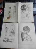 8g) ARTE MINUSCOLA LEZIONE DI DISEGNO ANNO 3 N° 1 1897 DUE FOGLI CON VARIE IMMAGINI - Libri, Riviste, Fumetti
