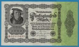 """DEUTSCHES REICH 50000 Mark 19.11.1922No A.32113455 P# 79 (""""Reichsdruck"""") Bürgermeister Brauweiler - [ 3] 1918-1933 : Weimar Republic"""
