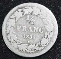 BELGIE LEOPOLD I 1/2 FRANC 1834   MOOIE  STAAT  4 SCANS - 1831-1865: Léopold I