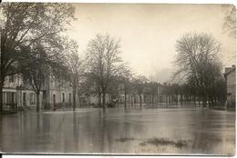 IZON ? AVENUE DE CAVERNES. INONDATION 1923. CAFE DE L' AVENIR. CARTE PHOTO - France
