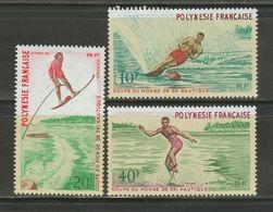 N215.-. 1972.-.  FRENCH POLYNESIA SC: #267-69 - MNH - World Water-Skiing Championships. SCV : US$ 35.25++ - Ski Nautique