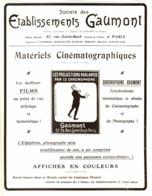 """PUB ETABLISSEMENTS  """" GAUMONT """"  1908 ( 1 ) - Photography"""