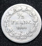 BELGIE LEOPOLD I 1/2 FRANC 1844  SUPER MOOIE  STAAT  4 SCANS - 1831-1865: Leopold I