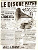 """PUB DISQUES  """" PATHE """" 1908 ( 1 ) - Musique & Instruments"""