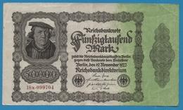 """DEUTSCHES REICH 50000 Mark 19.11.1922No 18M.099704  (""""Firmendruck"""") Bürgermeister Brauweiler - [ 3] 1918-1933 : Weimar Republic"""