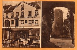 Krefeld Linn Schenke Zum Vater Rhein 1931 Postcard - Krefeld