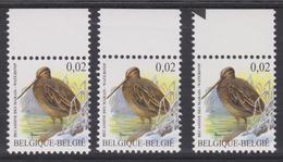 BE2003 - BUZIN - N° 3199 XX CPFL + 3199a XX TRC1 + 3199 XX TRC3 N'est Non Repris Au COB 2019 - 1985-.. Oiseaux (Buzin)