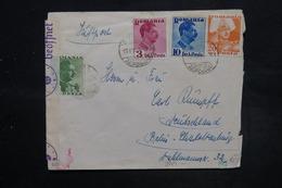 ROUMANIE - Enveloppe Pour Berlin En 1940 Avec Contrôle Postal , Affranchissement Plaisant - L 27090 - 2. Weltkrieg (Briefe)