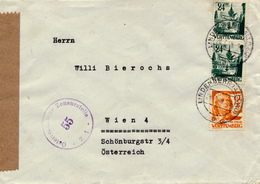 LINDENBERG - 1948 , Brief Nach Wien - Zensur - Französische Zone