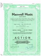 Titre Ancien - Maxwell Music Société Anonyme - Titre De 1978 - Casino