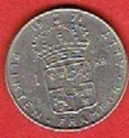 SWEDEN #  1 KR  FROM 1971 - Suède