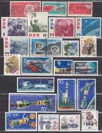 DDR  - Partie Raumfahrt Mit 24 Verschiedenen  Used - Raumfahrt