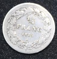BELGIE LEOPOLD I 1/4 FRANC 1835  MOOIE  STAAT  2 SCANS - 1831-1865: Leopold I