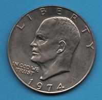 "USA LOT 3 X 1 Dollar 1974 - 1974D - 1976 ""Eisenhower Dollar""  KM# 203 - Federal Issues"
