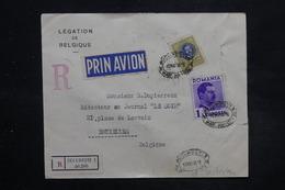 ROUMANIE - Enveloppe En Recommandé De La Légation De Belgique Pour Bruxelles En 1936 Affranchissement Plaisant - L 27093 - 1918-1948 Ferdinand, Charles II & Michael