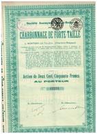 Titre Ancien - Société Anonyme Franco-Belge Du Charbonnage De La Forte-Taille - Titre De 1927 - Mines